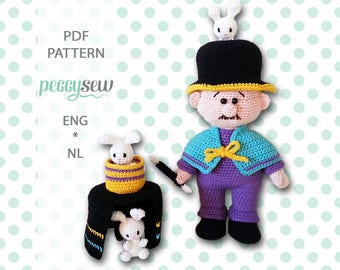 Ralph the Rabbit Magician, amigurumi crochet pattern