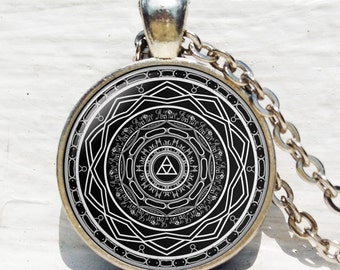 Mirror of Twilight Necklace, The Legend of Zelda pendant, Twilight Princess necklace, Art Gifts, for Her, for him