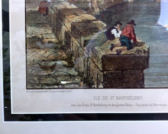 19th Century Framed Lithograph Print, Rome, Italy - Wall Art