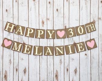 HAPPY BIRTHDAY BANNER, happy birthday sign, happy birthday decor, birthday party decorations, birthday party decor, birthday party banner