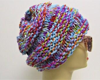 Scrunchy Multicolored Hat