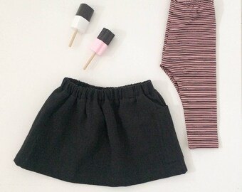 SALE 50% Legging stripes pink/ black