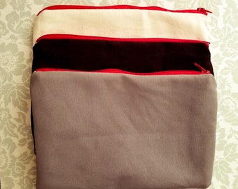 Blank Canvas Bag, Blank Bag, Canvas Zipper Pouch. Canvas BAg