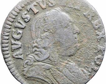 1752 Polish Lithuanian Commonwealth August III Szeląg Solidus Shilling Coin 1/3 Grosz