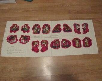 Fabric Panel to Make Cut Sew and Stuff Pets of Christmas Past Stuffed Christmas Ornaments Cranston VIP