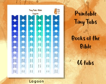 Printable Bible Tabs // Books of the Bible Tabs // Bible Study Tabs // Bible Journaling Tabs // Bible Journal // Bible Reading