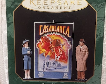 Hallmark Keepsake Ornament The 1942 Film Classic Casablanca Ornament Humphrey Bogart Ingrid Bergman Casablanca Set of 3 Patricia Andrews Art