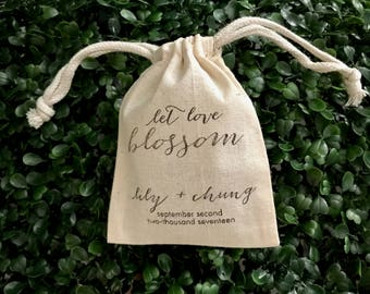 Customized Wedding Muslin Cloth Bag