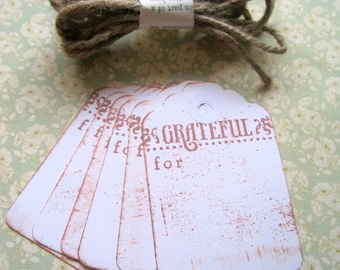 Antiqued Thanksgiving Tags,Vintage Theme Thanksgiving Tags,Fall Tags,Holiday Tags,Thanksgiving Table Decorations,Thanksgiving Party Favors