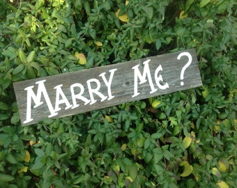 Western Country Rustic Wood Wedding Proposal Sign Marry Me Photo Prop