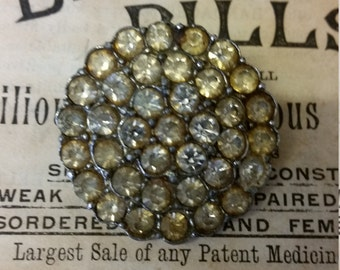 Vintage Sparkly Crystal/Paste Brooch
