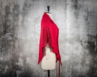 woolen shawl  - hand cut pattern from shoulders