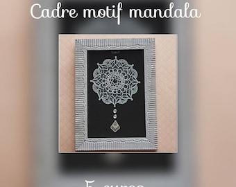 Mandala pattern frame
