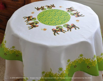 Goat Year Table Cloth, Unique Table linen