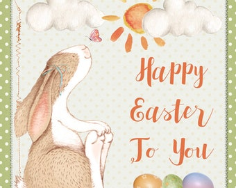 Handmade Easter Card Eggs/Bunny, Easter card, Happy Easter, Cards for Easter, Easter greeting cards, Rabbit, Butterfly, Easter Wishes, Eggs