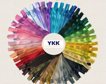"""ZipperStop Wholesale Authorized Distributor YKK® ~ 7"""" YKK Assorted Zippers-50 of the hottest colors for 2016!We are also accepting requests!"""
