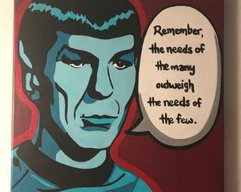 "Original ""Spock"" Painting"