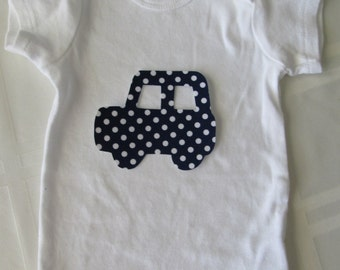 Car iron on applique - for baby or kids tee, home decor