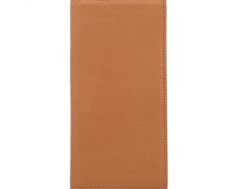 MAC&LOU Calfskin Leather Bifold Wallet Camel