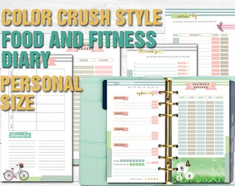 Color Crush Style Food and Fitness Planner - Filofax personal size
