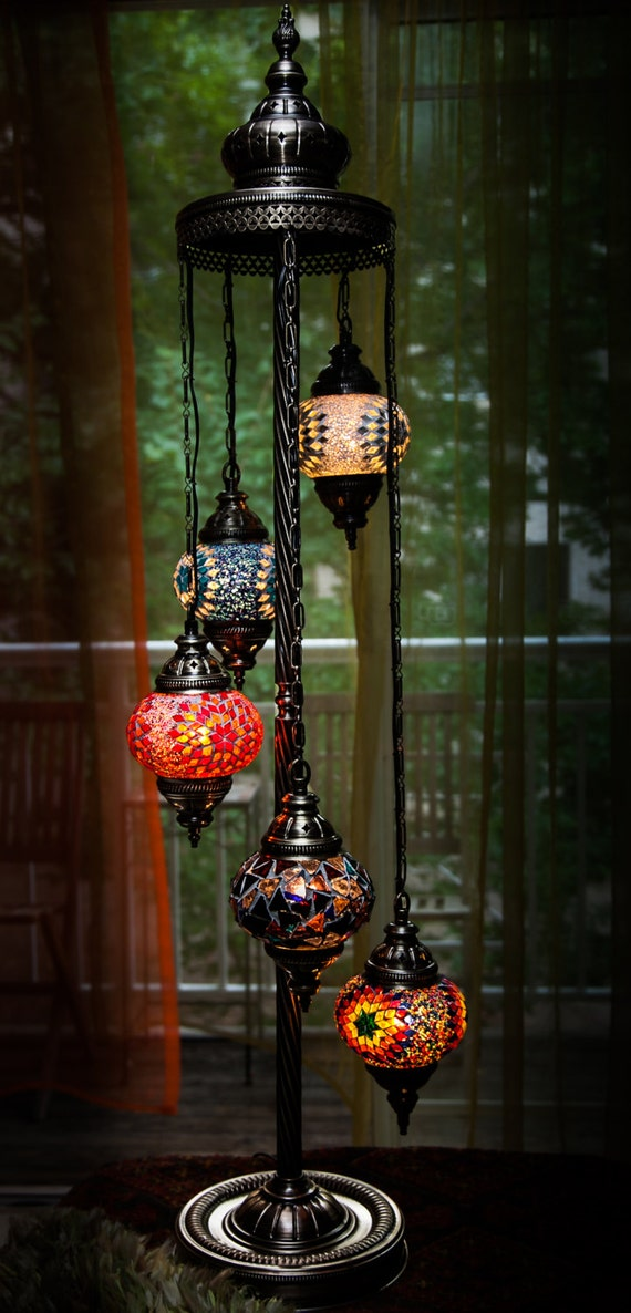 Items Similar To TURKISH / MOROCCAN Style Mosaic Glass Lamp On Etsy