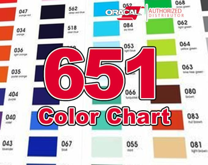 COLOR CHART (only!) / Oracal 651