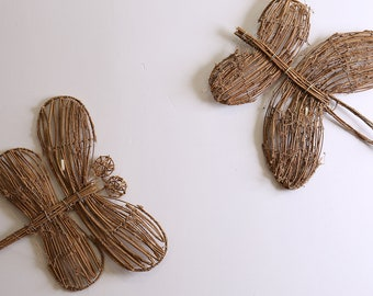 Arturest Handicraft Home Decor Insects Shape Decorations Adorable Dragonfly and Butterfly