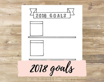2018 Yearly Goal Setting: Bullet Journal Printable