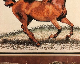 APRILSALE Cross My Heart, Vintage, 1996, For The Love Of Horses, CSB 135 Counted Cross Stitch Pattern Book
