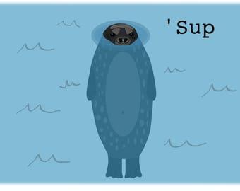 Harbor Seal 'Sup Mug/Water Bottle