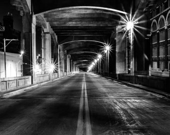 12th Street Bridge at Night, West Bottoms, Kansas City, MO Fine Art Photography by Pitts Photography
