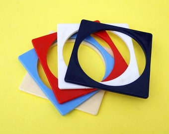 SALE 1960s Geometric Bangles (Set of 5)