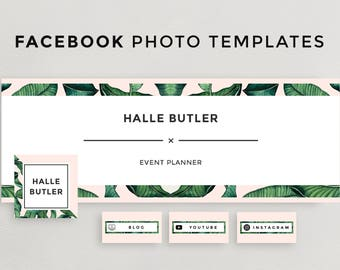Facebook Cover Photo, Social Media Template, Facebook Timeline Design for Photoshop, Instant Download, Profile Picture Facebook Template