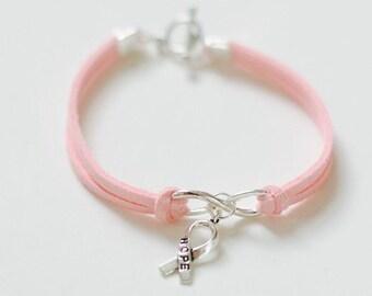 Hope Bracelet, Breast Cancer Awareness Bracelet, Infinity Bracelet, Infinity Hope Bracelet Minimalist, SALE,Minimalist Bracelet