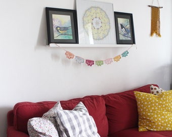 Dreamy Garland,Crochet Pattern DIY, crochet garland diy, crochet banner, crochet banner pattern, interior decoration, home decor, room decor