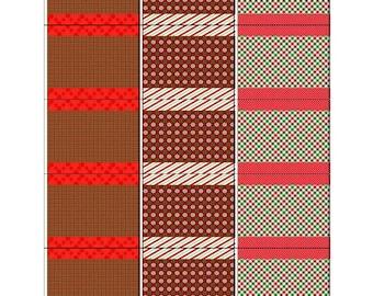Christmas Lip Balm Stickers-Christmas Stocking Stuffer-Holiday Lip Balm Stickers-Printable Christmas Lip Balm Stickers-Christmas Favor-DIY