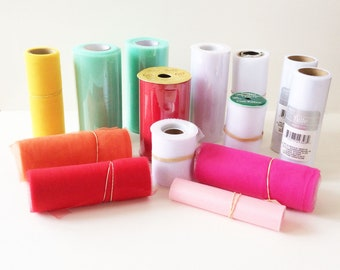 LAST CHANCE! Assortment of Tulle and Ribbon