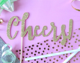 Cheers  Cake Topper // Cake Topper // Cheers // New Years // New Years Party // New Years Eve // New Years Eve Party // Holiday Party