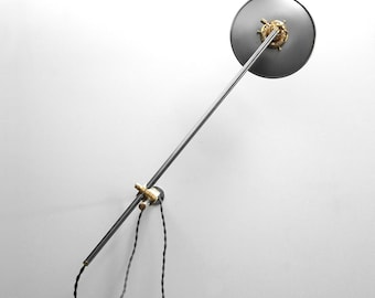 Wall Lamp - Adjustable Lamp - Extension Lamp - Boom Lamp - Bedside Lamp - Sconce - Articulating Industrial Brass Scissor Lamp Light - SB1