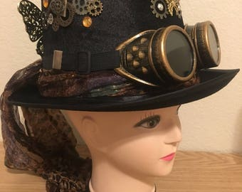 Steampunk Butterfly Tophat