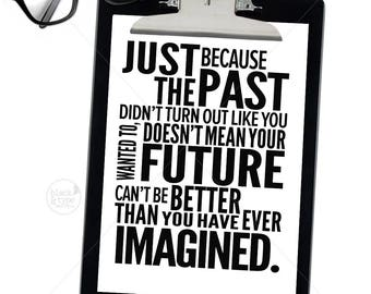 Future Even Better Than Imagined || inspirational print, typography art, inspirational prints, motivational print, future print, inspiration