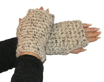Mittens Fingerless, Crochet Mittens, Gloves Fingerless, Wool Mittens, Wristwarmers Women, Chunky Mittens, Crochet Mittens, Warm Winter