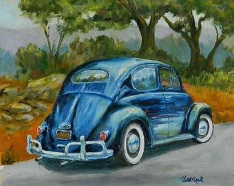 57 Vee Dub - Volkswagen Bug - original oil painting