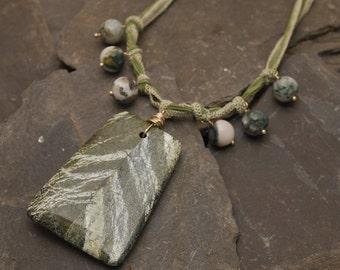 Ivy Silk Tie-Back Necklace
