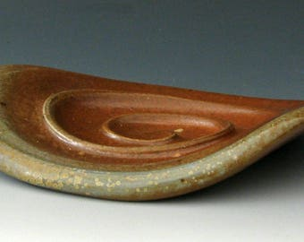 WOODFIRED SOAP DISH #18 - Wood Fired Soap Dish - Ceramic Soap Dish - Stoneware Soap Dish - Bar Soap Dish - Soap Holder - Soaps - Bath