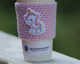 Coffee sleeve, cup cozy, cup sleeve, Coffee cozy, Fairytale gift, coffee gift, gift mom gift, best friend gift, coworker gift, unicorn gift