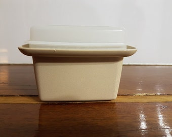 Retro Australian Square Tupperware 11cm 1970 - great for craft storage