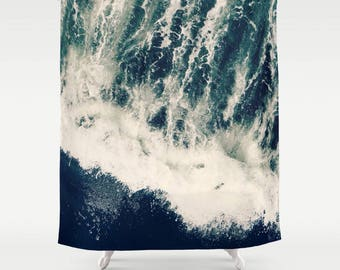 Shower Curtain -  Ocean, Waves, Sea, Roars, Surf, Nature Photography by RDelean Designs
