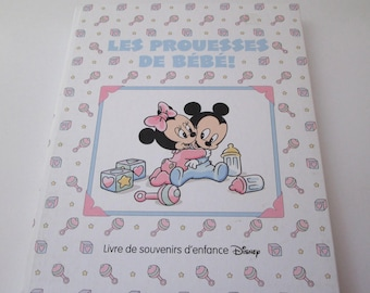 French Baby Book, Vintage, Disney Book, Baby Memory Book, disney souvenir, baby keepsake book, scrapbook, baby shower gift, nursery decor