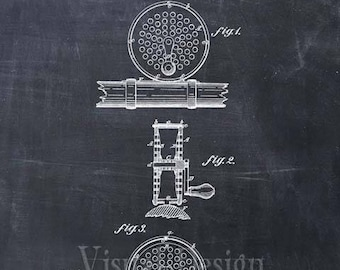 Fly Fishing Reel Patent Print Fly Fishing Art Print